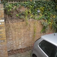garden wall failure