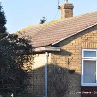 finlock gutters on bungalow in Hythe, Kent.