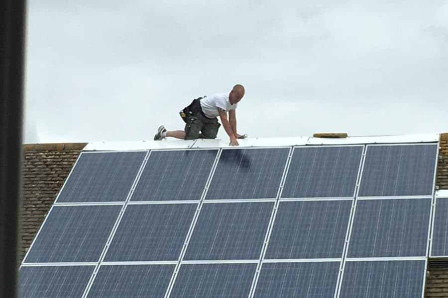 Solar panels dangerous workmanship HSE Health and Safety CDM