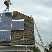 dangerous work, solar panels, hse, cdm, health and safety, ladder