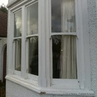 sash windows, rotten frames, decayed sills, essential repairs, building survey