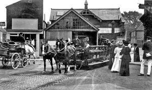 Hythe, tramshed, red lion square, surveying, tram