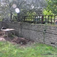 damaged garden wall in London