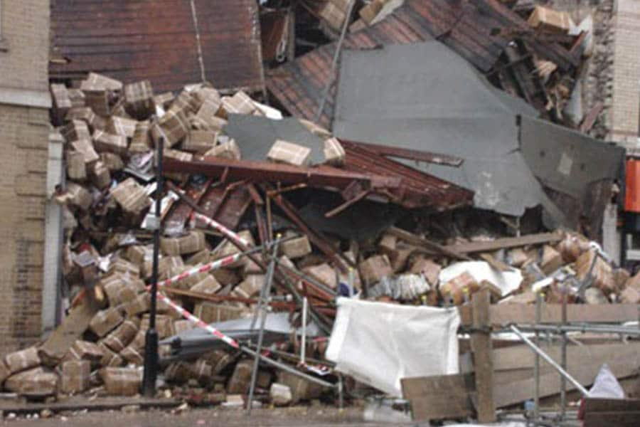 Building collapse - check your insurance