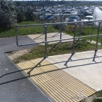corduroy paving at top of steps for DDA compliance