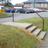 poor steps and handrail found on access audit