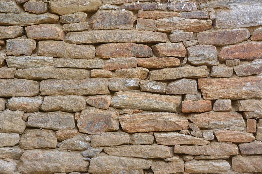 dry stone garden wall
