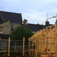 building on the boundary - hoarding , site safety, protection