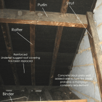 building survey; whats in a loft - purlins, rafter, binder, strut