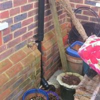 small repairs matter - broken drain pipe - building survey chislehurst