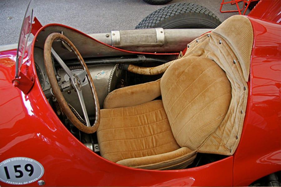 corduroy fabric racing car seat