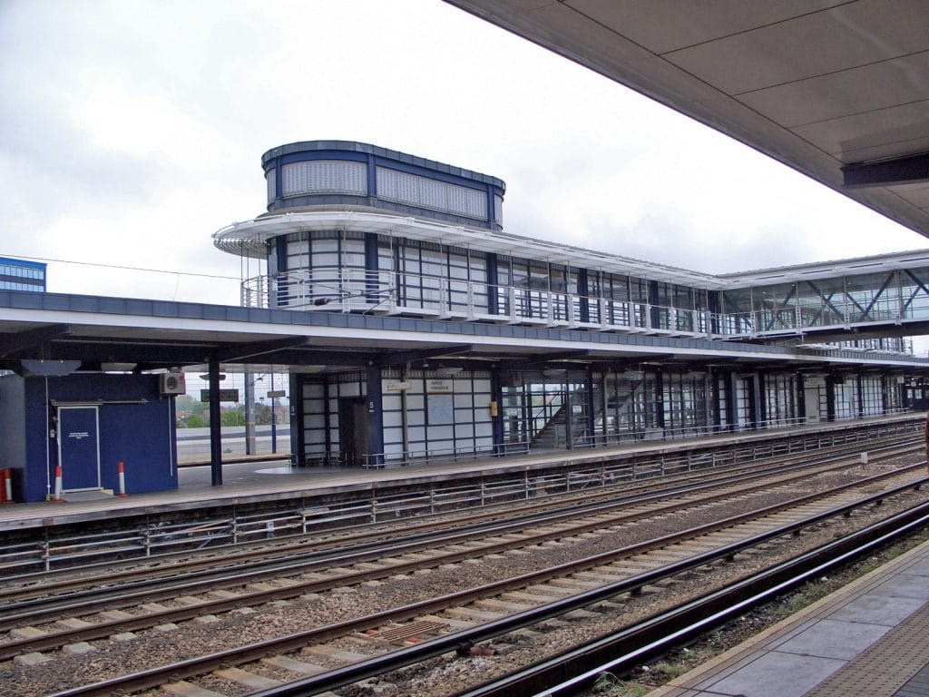 Ashford International Train Station platforms