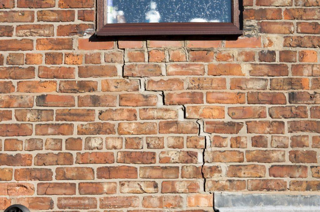 Subsidence Cracks Near Window