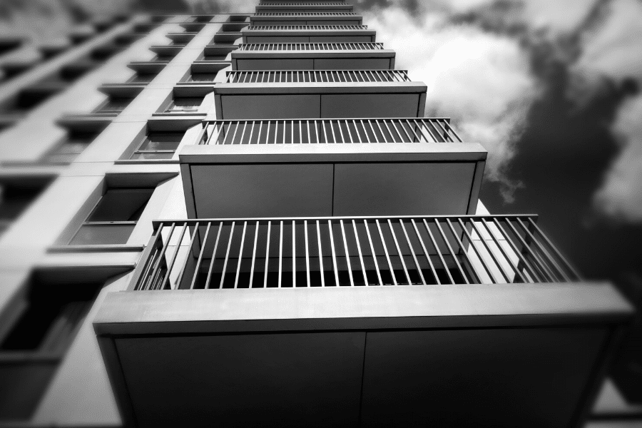 image of balconies on tall building