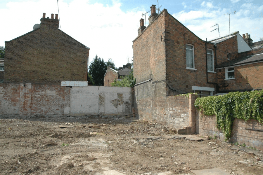 Image of building work requiring party wall agreement