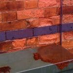 water damaged brickwork and pointing
