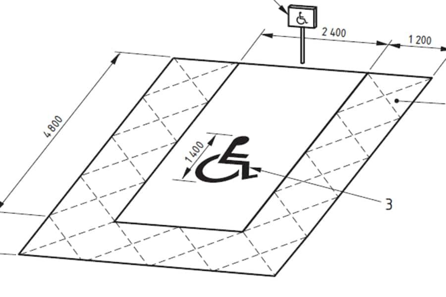 accessible parking space - dimensions dda audit