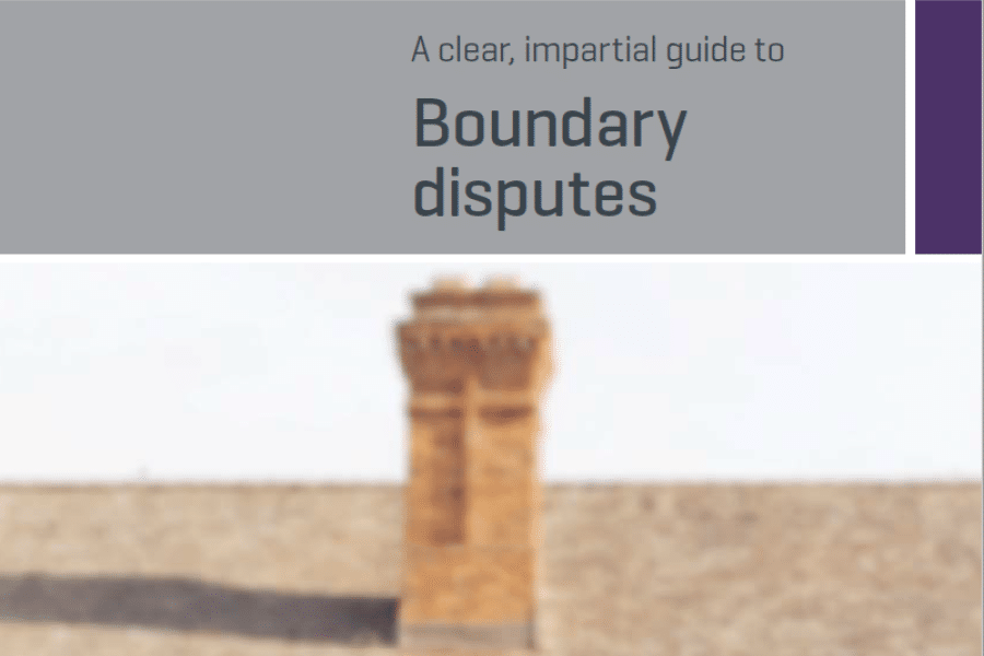 RICS Guide to Boundary Disputes