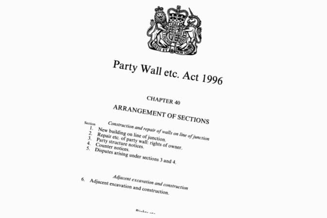 Party Wall Etc. Act 1996